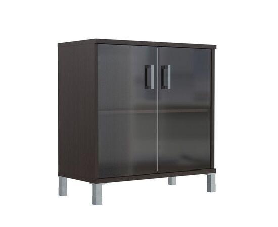 Шкаф для документов с дверьми низкий широкий В-410.5 Венге магия Skyland Born 900х450х920, Цвет товара: Венге магия, изображение 5