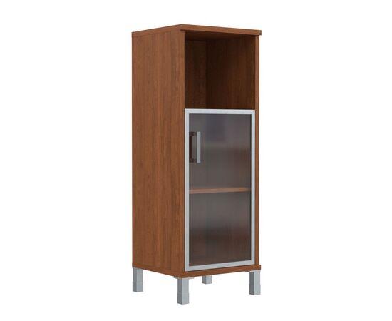 Шкаф-колонка для документов с правой дверкой стекло в алюминиевой раме средний В-421.4R Венге магия Skyland Born 475х450х1286, Цвет товара: Венге магия, изображение 4
