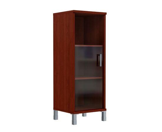 Шкаф-колонка для документов с левой дверкой стекло тонированное средний В-421.5L Венге магия Skyland Born 475х450х1286, Цвет товара: Венге магия, изображение 2