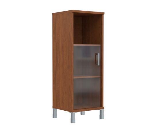 Шкаф-колонка для документов с левой дверкой стекло тонированное средний В-421.5L Венге магия Skyland Born 475х450х1286, Цвет товара: Венге магия, изображение 3
