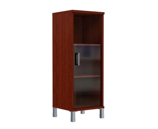 Шкаф-колонка для документов с правой дверкой стекло тонированное средний В-421.5R Венге магия Skyland Born 475х450х1286, Цвет товара: Венге магия, изображение 2