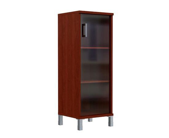 Шкаф-колонка для документов с правой дверкой стекло тонированное раме средний В-421.8R Венге магия Skyland Born 475х450х1286, Цвет товара: Венге магия, изображение 2