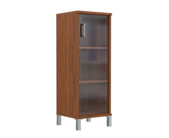 Шкаф-колонка для документов с правой дверкой стекло тонированное раме средний В-421.8R Венге магия Skyland Born 475х450х1286, Цвет товара: Венге магия, изображение 4