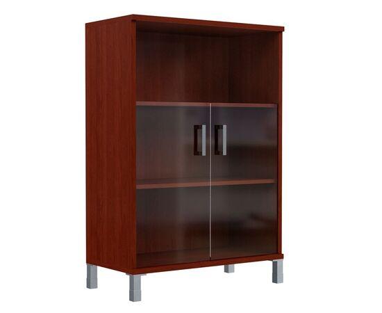 Шкаф для документов с дверьми стекло тонированное раме широкий В-420.5 Венге магия Skyland Born 900х450х1286, Цвет товара: Венге магия, изображение 2