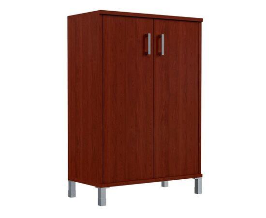 Шкаф для документов с глухими дверьми средний широкий В-420.6 Венге магия Skyland Born 900х450х1286, Цвет товара: Венге магия, изображение 2