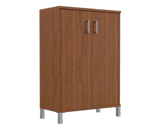Шкаф для документов с глухими дверьми средний широкий В-420.6 Венге магия Skyland Born 900х450х1286, Цвет товара: Венге магия, изображение 4