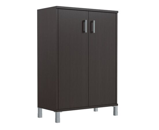 Шкаф для документов с глухими дверьми средний широкий В-420.6 Венге магия Skyland Born 900х450х1286, Цвет товара: Венге магия, изображение 5