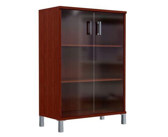 Шкаф для документов с дверьми стекло тонированное широкий В-420.8 Венге магия Skyland Born 900х450х1286, Цвет товара: Венге магия, изображение 2