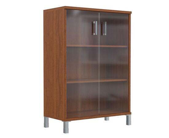 Шкаф для документов с дверьми стекло тонированное широкий В-420.8 Венге магия Skyland Born 900х450х1286, Цвет товара: Венге магия, изображение 4