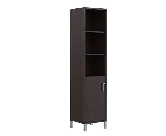 Шкаф-колонка высокая с левой глухой малой дверью для документов В-431.2L Венге магия Skyland Born 475х450х2054, Цвет товара: Венге магия, изображение 2