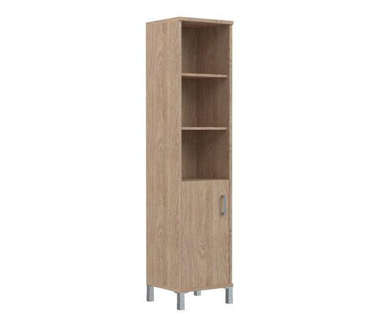 Шкаф-колонка высокая с левой глухой малой дверью для документов В-431.2L Венге магия Skyland Born 475х450х2054, Цвет товара: Венге магия, изображение 4