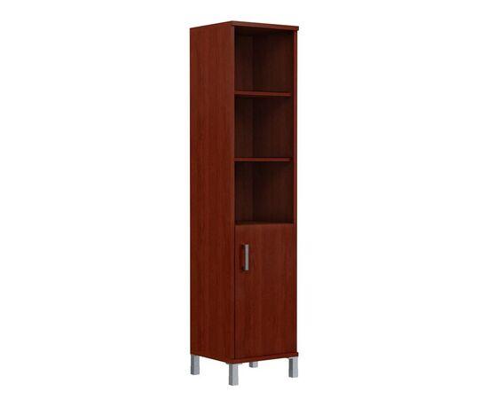 Шкаф-колонка высокая с правой глухой малой дверью для документов В-431.2 Орех Гарда Skyland Born 475х450х2054, Цвет товара: Орех гарда, изображение 3
