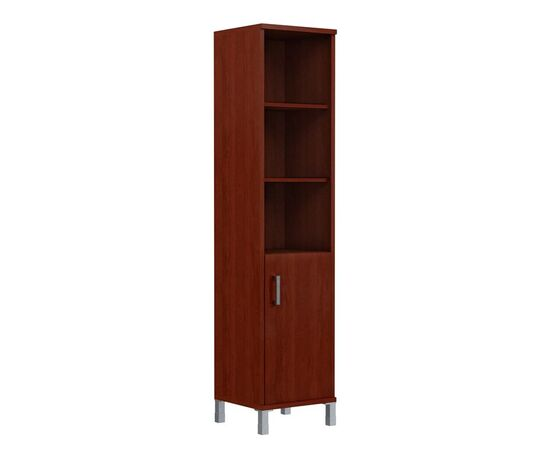 Шкаф-колонка высокая с правой глухой малой дверью для документов В-431.2 Дуб Девон Skyland Born 475х450х2054, Цвет товара: Дуб девон, изображение 3