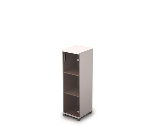 Шкаф для документов средний узкий ( дверь стекло без ал.рамы ) AVANCE ALSAV 6П.015.3 Венге 400х450х1348, Цвет товара: Венге, изображение 2