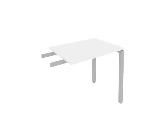 Брифинг приставка к столу на металлокаркасе Metal system Riva Б.ПР-2 Белый  800*600*750, Цвет товара: Белый, изображение 2