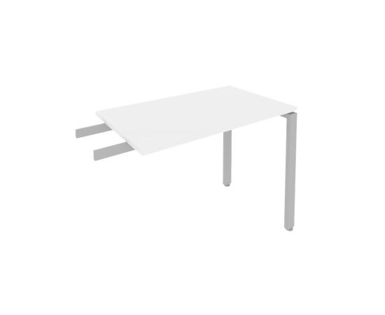 Брифинг приставка к столу на металлокаркасе Б.ПР-3 Белый Metal system 1000*600*750, Цвет товара: Белый, изображение 2