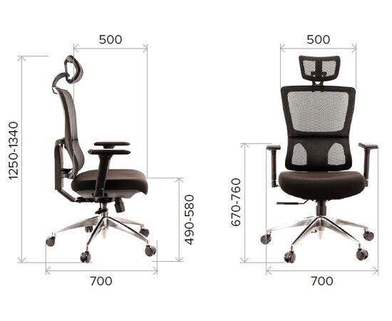 Компьютерное кресло для руководителя Everprof Everest S сетка черный, Цвет товара: Черный, изображение 2