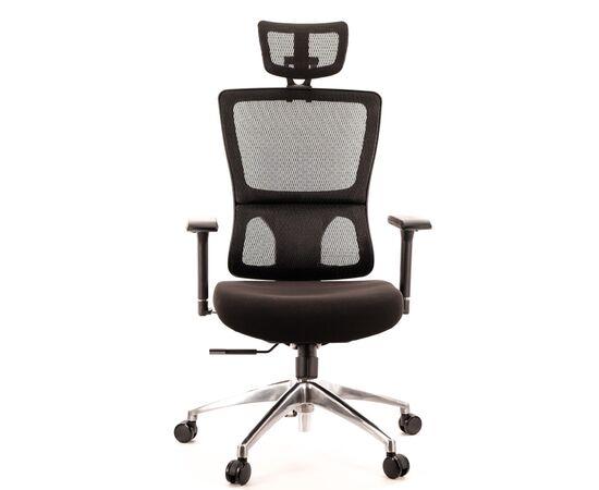 Компьютерное кресло для руководителя Everprof Everest S сетка черный, Цвет товара: Черный, изображение 3