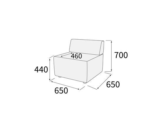 Модуль прямой Гамма 650х650х700 Экокожа Alfa, Цвет товара: Oregon 16, изображение 5