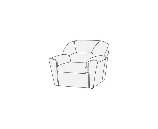 Кресло Дельта Лайт 940х900х980 Alfa, Цвет товара: Oregon 06, изображение 3