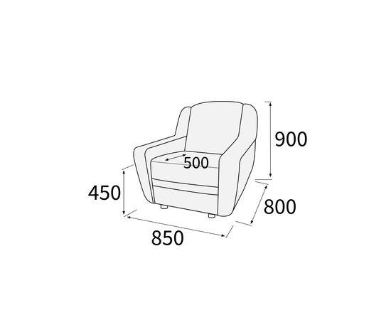 Кресло для офиса Кронос 850х800х900 Экокожа Alfa, Цвет товара: Oregon 16, изображение 3