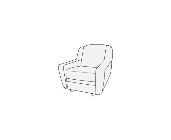 Кресло для офиса Кронос 850х800х900 Экокожа Alfa, Цвет товара: Oregon 16, изображение 2