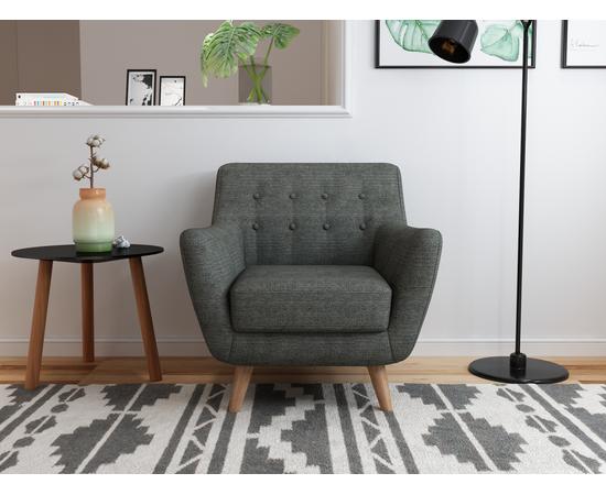 Кресло мягкое Picasso темно-серый Bradex Home, Цвет товара: темно-серый, изображение 2