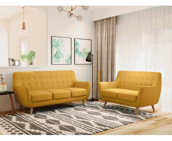 Диван Picasso двухместный горчичный Bradex Home, Цвет товара: Горчичный, изображение 2