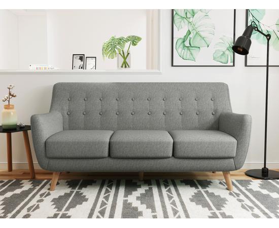 Диван Picasso трехместный серый Bradex Home, Цвет товара: Серый, изображение 2