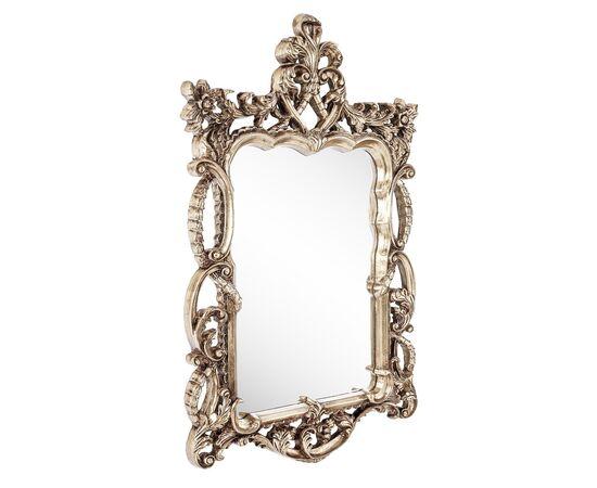 Зеркало настенное в резной раме Floret Silver (Флорет) Art-zerkalo, изображение 2
