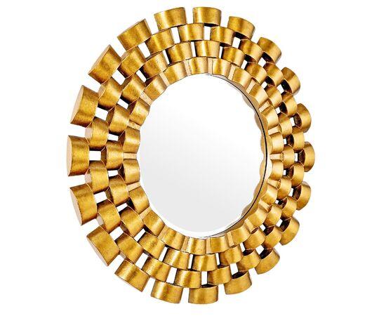 Зеркало настенное в раме модерн Nexus Gold (Нексус) Art-zerkalo, изображение 2