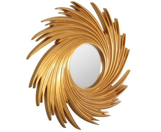 Зеркало настенное в раме модерн Tornado Gold (Торнадо) Art-zerkalo, изображение 2