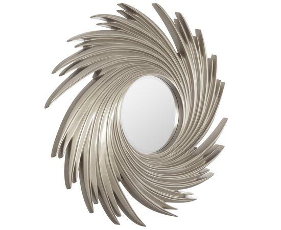 Зеркало настенное в раме модерн Tornado Silver (Торнадо) Art-zerkalo, изображение 2