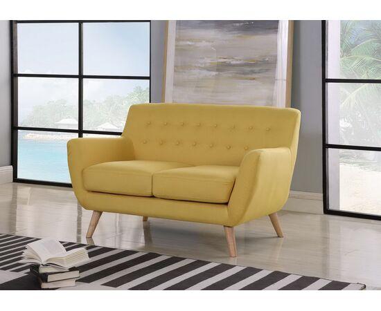 Диван Picasso двухместный горчичный Bradex Home, Цвет товара: Горчичный, изображение 3