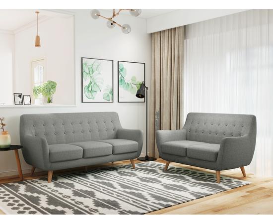 Диван Picasso трехместный серый Bradex Home, Цвет товара: Серый, изображение 3