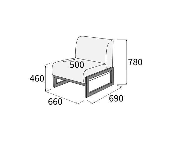 Кресло Сигма 660х690х780 Экокожа/Каркас серый матовый Alfa, Цвет товара: Oregon 19, изображение 2