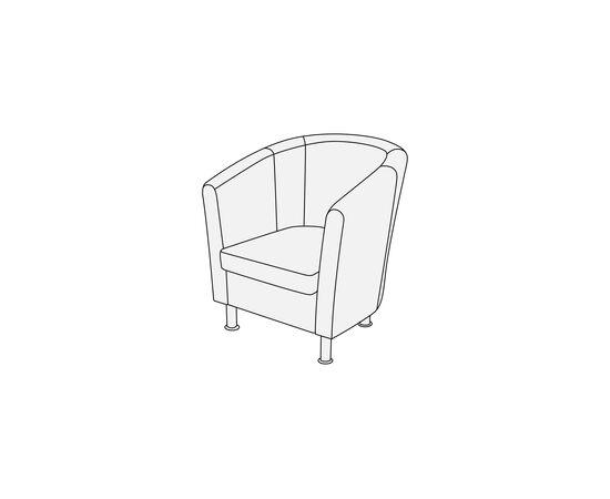Кресло Эллипс 790х750х830 Кожа Alfa, Цвет товара: 1061, изображение 5