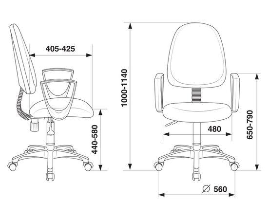 Офисное кресло Бюрократ CH-1300N/3C11 черный Престиж+ 3C11