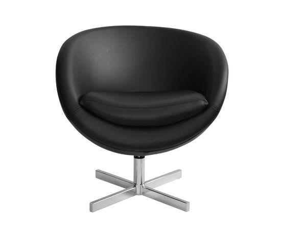 Дизайнерское кресло из экокожи A686 черное Beonmebel, Цвет товара: Черный, изображение 2
