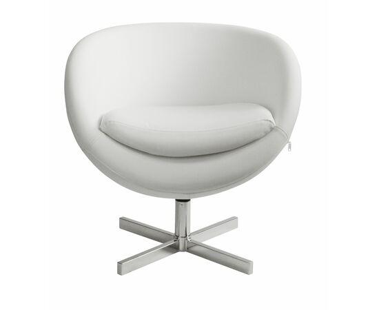 Дизайнерское кресло из экокожи A686 белое Beonmebel, Цвет товара: Белый, изображение 2