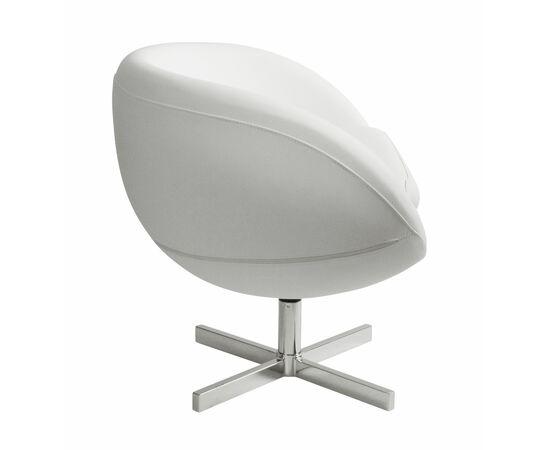 Дизайнерское кресло из экокожи A686 белое Beonmebel, Цвет товара: Белый, изображение 3