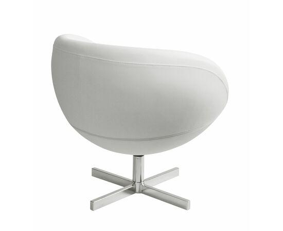 Дизайнерское кресло из экокожи A686 белое Beonmebel, Цвет товара: Белый, изображение 4