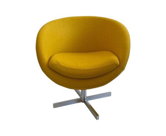 Дизайнерское кресло A686 желтое Beonmebel, Цвет товара: Желтый, изображение 2