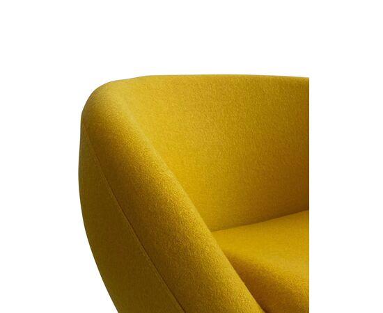 Дизайнерское кресло A686 желтое Beonmebel, Цвет товара: Желтый, изображение 5