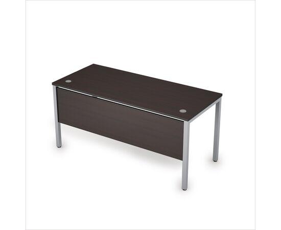 Стол прямой письменный на металлокаркасе (сечение опоры 40*40, с царгой ЛДСП ) AVANCE ALSAV 6МД.004 Венге 1600х700х750, Цвет товара: Венге /Алюминий матовый