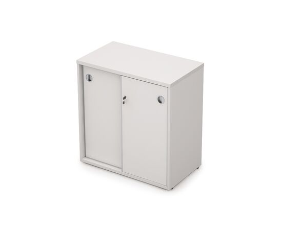 Шкаф-купе для документов в офис низкий с замком AVANCE 6ШКЗ.010 Белый 700х400х750, Цвет товара: Белый