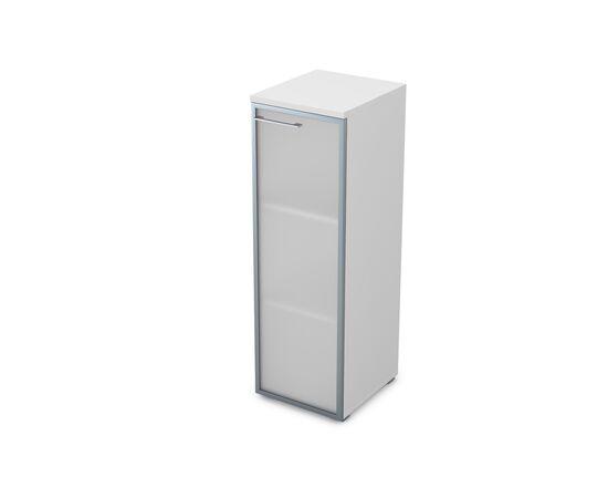 Шкаф для документов узкий средний правый GLOSS LINE ALSAV 9НП.017.6 БЕЛЫЙ ПРЕМИУМ 400*450*1245, Цвет товара: Белый премиум