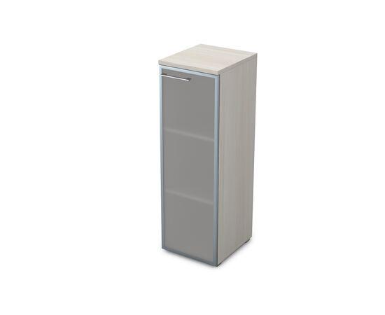 Шкаф для документов узкий средний правый GLOSS LINE ALSAV 9НП.017.6 IVORY 400*450*1245, Цвет товара: Ivory