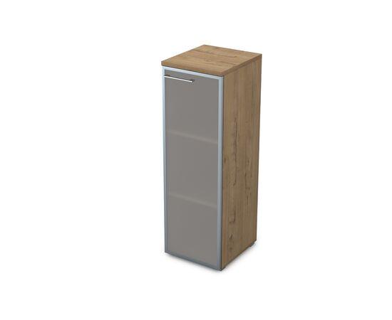 Шкаф для документов узкий средний правый GLOSS LINE ALSAV 9НП.017.6 TEAKWOOD 400*450*1245, Цвет товара: TeakWood