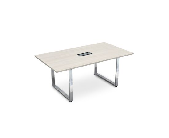 Стол для переговоров на О-образном металлокаркасе GLOSS LINE ALSAV НСП-О.938 IVORY 1800х1000х750, Цвет товара: Ivory